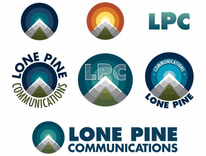 lone pine communications logo prototypes