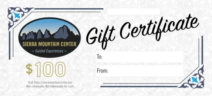 image of smc gift certificate